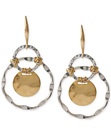 Robert Lee Morris Soho Two-Tone Wire-Wrapped Orbital Circle Drop Earrings
