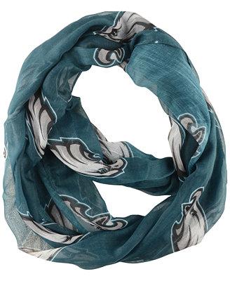 earth philadelphia eagles sheer infinity scarf