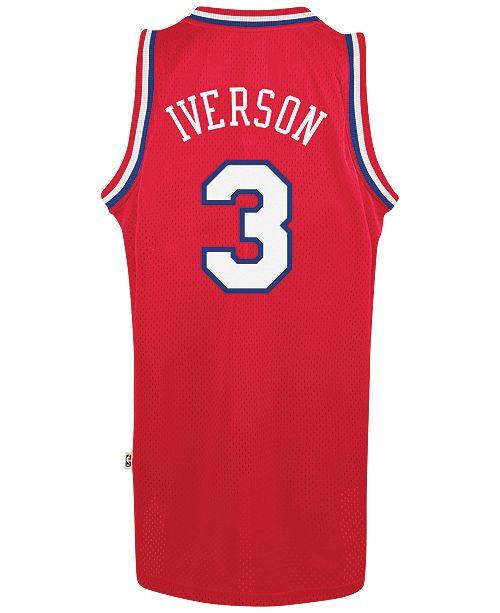 ... adidas Men s Allen Iverson Philadelphia 76ers Swingman Jersey ... 132acc3c1