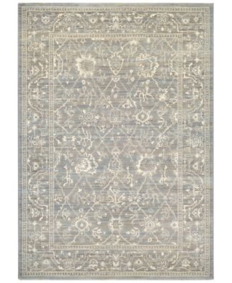 "McKinley Persian Arabesque Charcoal-Ivory 7'10"" x 11'2"" Area Rug"