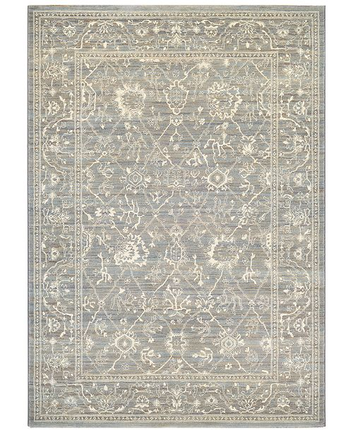 Couristan McKinley Persian Arabesque Charcoal-Ivory  Area Rugs