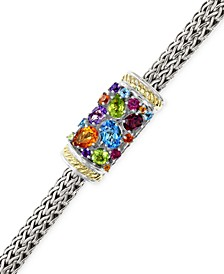 EFFY® Multistone Bracelet in Sterling Silver and 18k Gold (3-1/4 ct. t.w.)