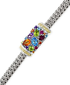 EFFY Multistone Bracelet in Sterling Silver and 18k Gold (3-1/4 ct. t.w.)