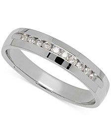 Men's Diamond Band in 14k White Gold (1/4 ct. t.w.)