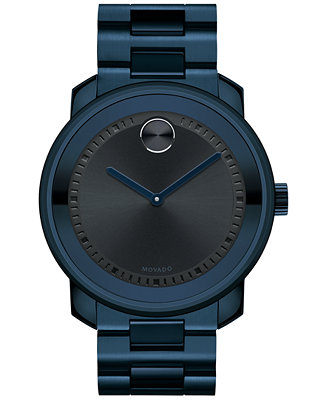 Movado Men's Swiss Bold Navy PVD-Finished Stainless 3600296