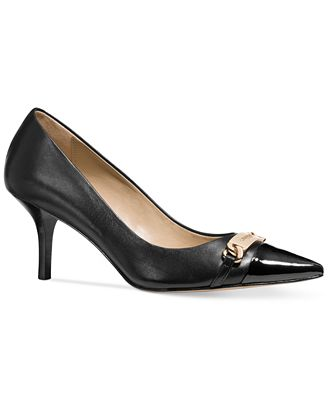 COACH Bowery Pointed-Toe Kitten Heel Pumps - Shoes - Macy's