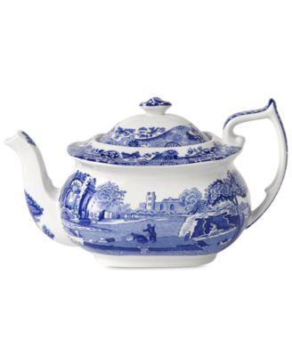 Dinnerware, Blue Italian Teapot, 64 oz.