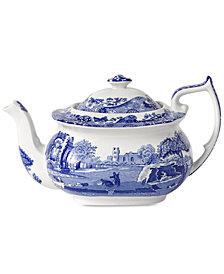 Spode Dinnerware, Blue Italian Teapot, 64 oz.