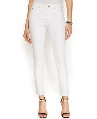 TWO by Vince Camuto Skinny Jeans, White Wash - Jeans - Women - Macy's