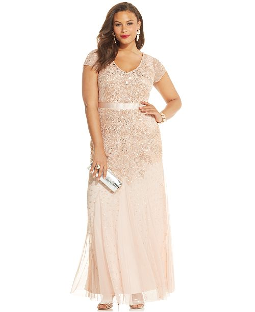 2913ce364f Adrianna Papell Plus Size Embellished Gown   Reviews - Dresses ...