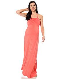 Wendy Bellissimo Sleeveless Halter-Neck Maxi Dress