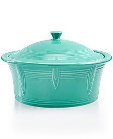 Fiesta Turquoise 90 oz. Covered Casserole