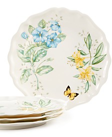 Lenox Butterfly Meadow Set of 4 Melamine Dinner Plates