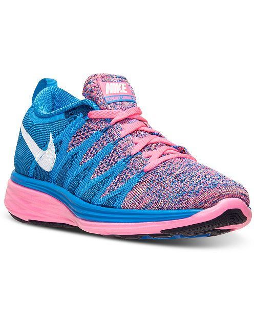 new style 77e38 7f7e0 Nike Women's Flyknit Lunar 2 Running Sneakers from Finish ...