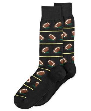 HOT SOX Men'S Football Socks in Black