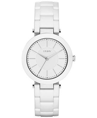 DKNY Women's Stanhope White Ceramic Bracelet Watch 36mm NY2291