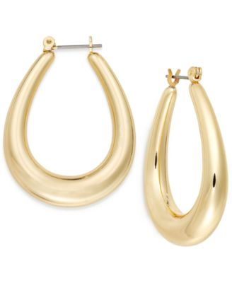 Image of Charter Club Oval Hoop Earrings