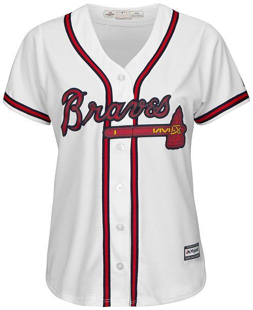 Majestic Women's Atlanta Braves Jersey; Majestic Women's Atlanta Braves Jersey ...