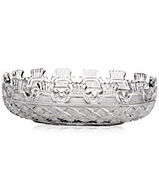 "Waterford Master Craft Collection Crystal Kennedy 14"" Oval Bowl"