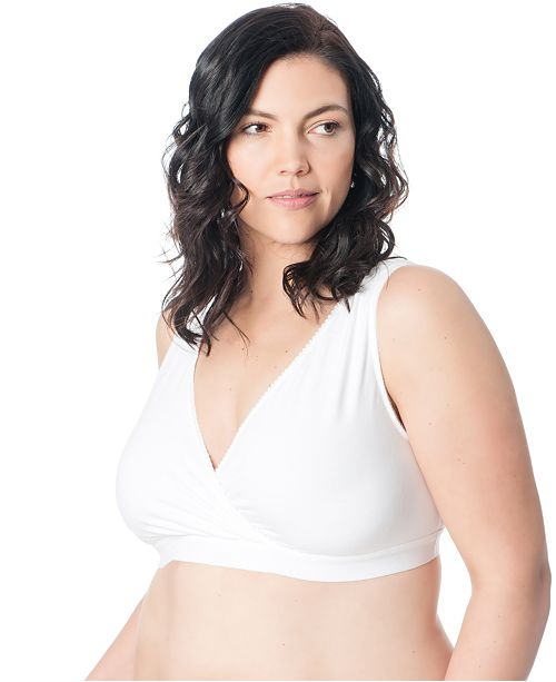 4c09dc7636b ... Motherhood Maternity Plus Size Full-Coverage Nursing Wrap Sleep Bra ...