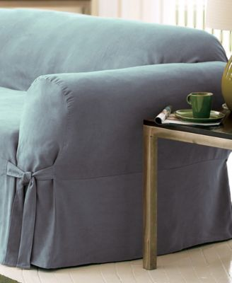 Attirant Sure Fit Soft Faux Suede Sofa Slipcover