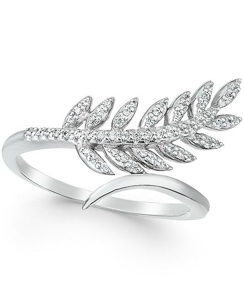 leaf cttw gold product diamond page rings qvc adi com paz ring