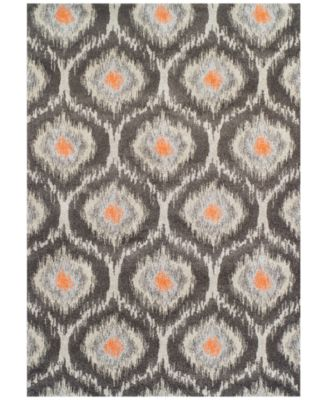 "Neo Grey Grate Pewter  3'3"" x 5'3"" Area Rug"