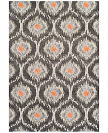 Neo Grey Grate Pewter  Area Rug