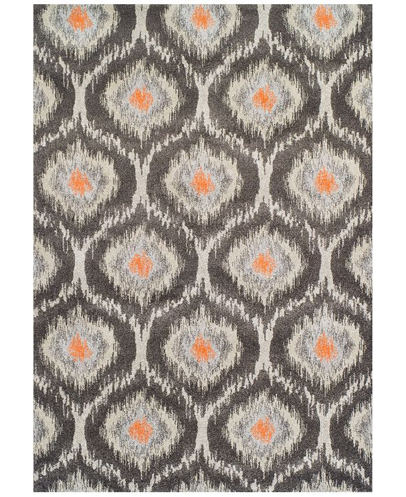 """Macy's Fine Rug Gallery Neo Grey Grate Pewter  3'3"""" x 5'3"""" Area Rug"""