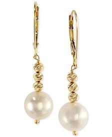 EFFY® Cultured Freshwater Pearl Drop Earrings in 14k Gold (8-1/2mm)