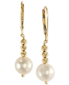 EFFY Cultured Freshwater Pearl Drop Earrings in 14k Gold (8-1/2mm)