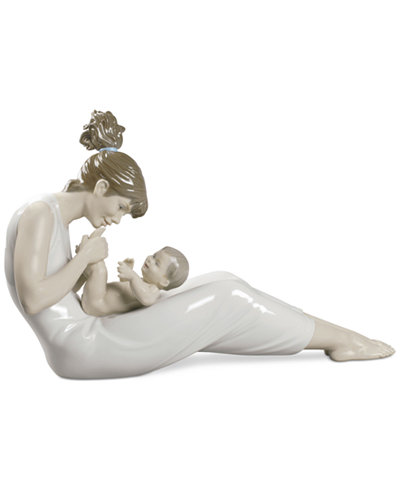 Lladro Giggles with Mom Figurine