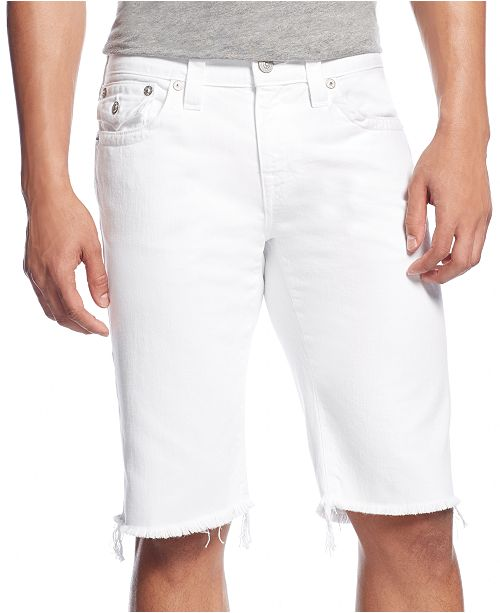 """True Religion Men's Relaxed 13"""" Stretch Shorts"""