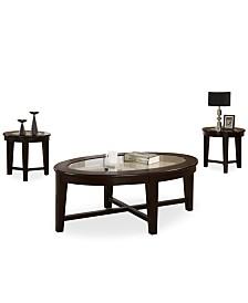 Takoma 3 Piece Occasional Table Set, Quick Ship