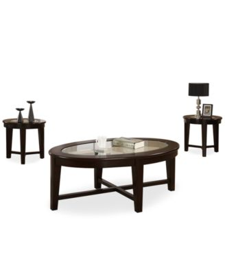 Takoma 3 Piece Occasional Table Set, Quick Ship