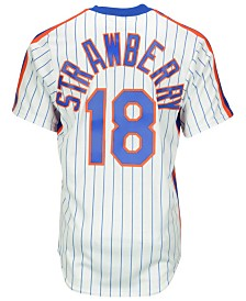 Majestic Darryl Strawberry New York Mets Cooperstown Replica Jersey