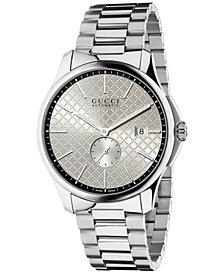 Gucci Unisex Swiss Automatic G-Timeless Stainless Steel Bracelet Watch 40mm YA126320