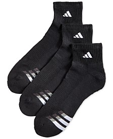 Adidas Men's Cushioned Performance 3-Pack Quarter Socks