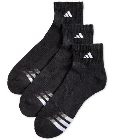Adidas Men's Cushioned Performance 3-Pack Quarter Socks