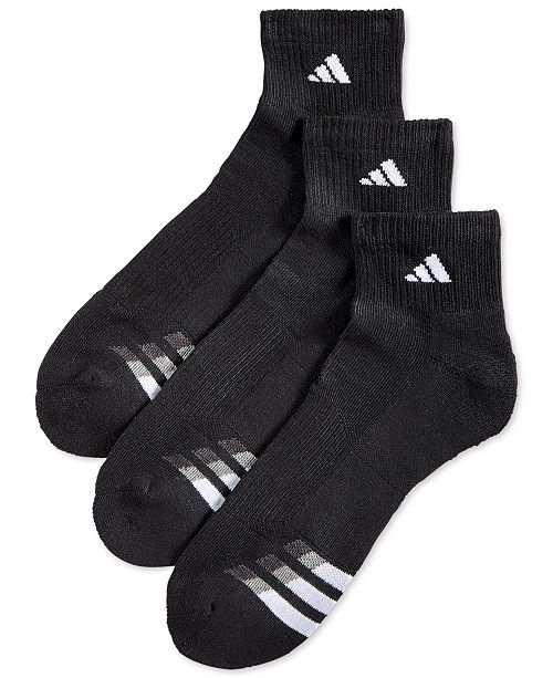 c4c2344f8c7b adidas Men s Cushioned Performance 3-Pack Quarter Socks   Reviews ...