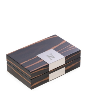 """Lacquered """"African Ebony"""" Burl Wood Valet Box"""