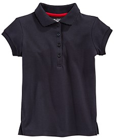 Nautica Big Girls School Uniform Polo