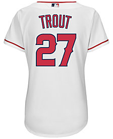Majestic Women's Mike Trout Los Angeles Angels of Anaheim Replica Jersey