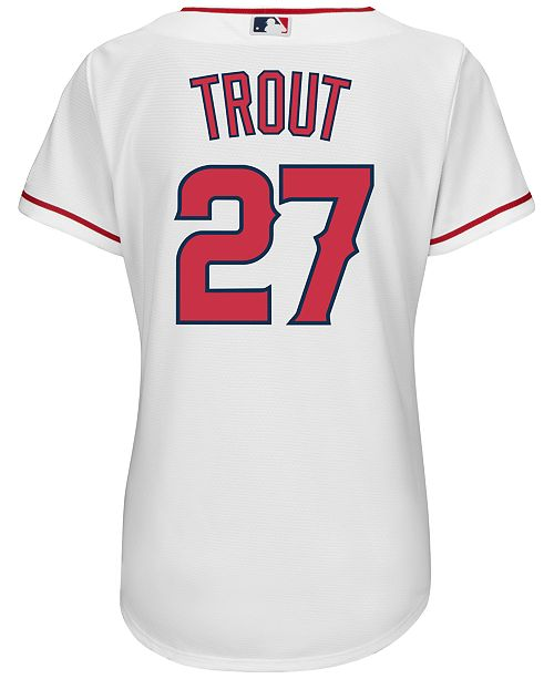 ... adidas Majestic Women s Mike Trout Los Angeles Angels of Anaheim  Replica Jersey ... 736f9a4ff