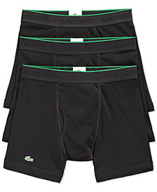 Lacoste Men's Cotton Boxer Briefs 3-Pack