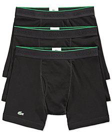 Lacoste Men's Cotton Boxer Briefs 3-Pack