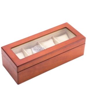 Cherry Wood Four-Watch Box