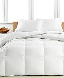 Calvin Klein Medium Warmth Down Comforters, Premium White Down Fill, 100% Cotton Cover