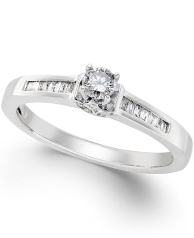 Diamond Promise Ring in Sterling Silver (1/4 ct. t.w.)