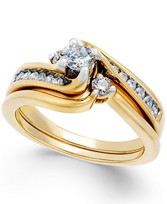 Diamond Engagement Ring (1/2 ct. t.w.) in 14k White or Yellow Gold